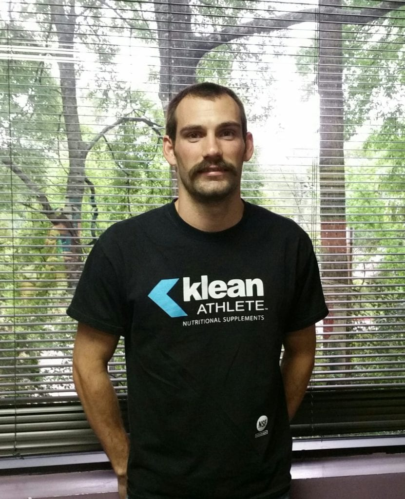 man in a klean athlete shirt