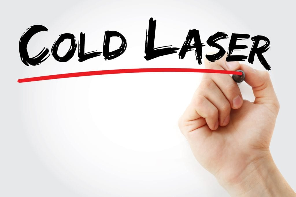 cold laser underlined by red