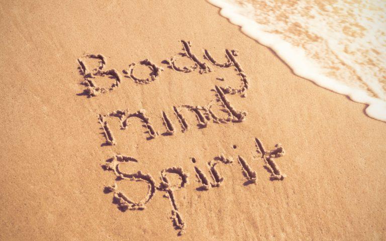 Body Mind Spirit in Sand