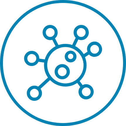 Food Allergy Testing Icon Blue