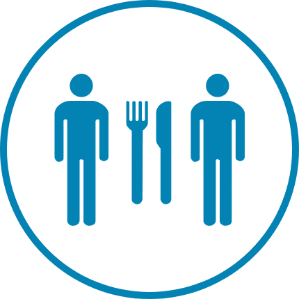 Nutrition Counseling Icon Blue