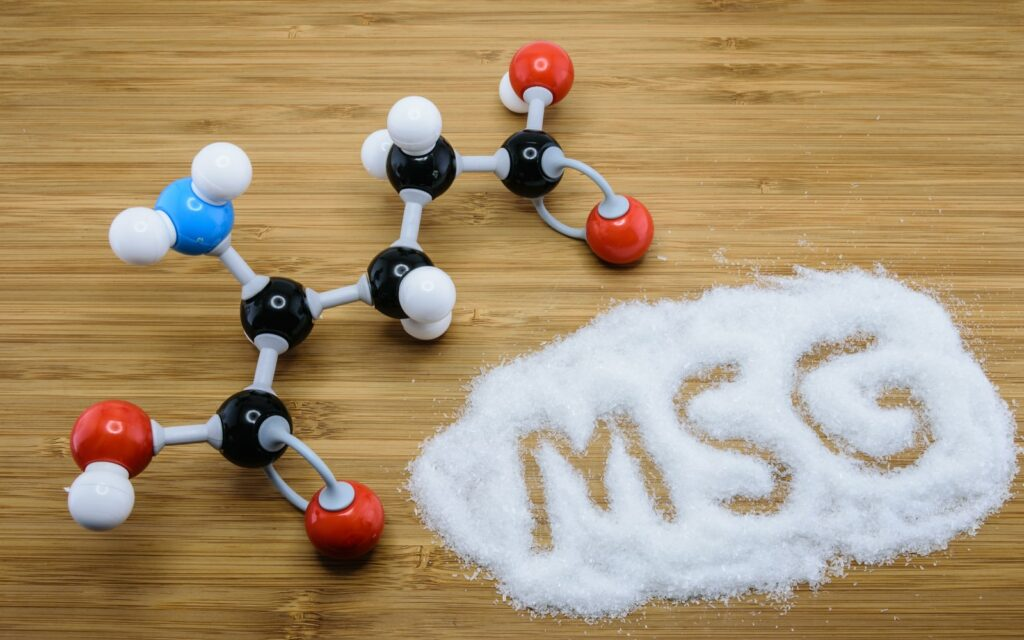 MSG with plastic molecule